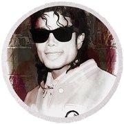 Michael Jackson Round Beach Towel