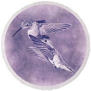 Mid-flight II Round Beach Towel