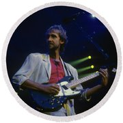 Mike Rutherford Round Beach Towel