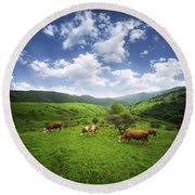 Round Beach Towel featuring the photograph Milka by Bess Hamiti