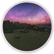 Milky Way Beach Round Beach Towel