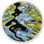 Mill Pond Reflection Round Beach Towel by Tom Cameron
