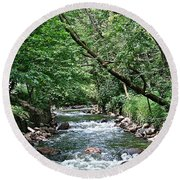 Minnehaha Creek Round Beach Towel