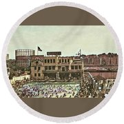 Miramar Saltwater Pool  Round Beach Towel