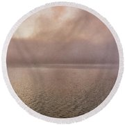 Round Beach Towel featuring the photograph Misty Morning by Tom Singleton