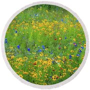 Mixed Wildflowers In Texas 538 Round Beach Towel
