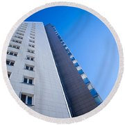 Round Beach Towel featuring the photograph Modern Apartment Block by John Williams