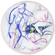 Moments In Time No.3 Round Beach Towel