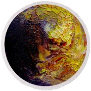 Round Beach Towel featuring the painting Monsoon by Fred Wilson