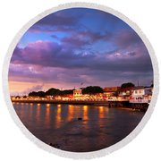 Moon Over Maui Round Beach Towel by James Roemmling