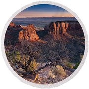 Morning At Colorado National Monument Round Beach Towel