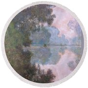 Morning On The Seine Near Giverny 1896 Round Beach Towel