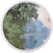 Morning On The Seine Near Giverny 1897 Round Beach Towel