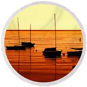 Morning Over Rockport Round Beach Towel