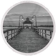 Morning Solitude Round Beach Towel