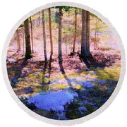 Mossy Ground Round Beach Towel by Shirley Moravec