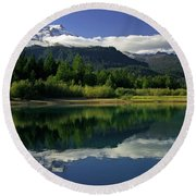 Mount Baker Round Beach Towel