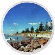 Mount Maunganui Beach 6 - Tauranga New Zealand Round Beach Towel