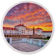 Mount Washington Hotel Round Beach Towel
