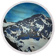 Mountain Round Beach Towel