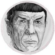 Mr Spock Round Beach Towel