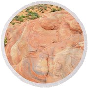 Round Beach Towel featuring the photograph Multicolored Wave In Valley Of Fire by Ray Mathis