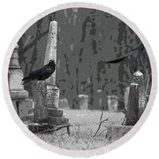Round Beach Towel featuring the photograph Murder Of Crows by Rowana Ray