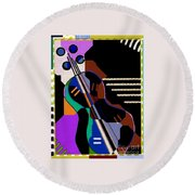 Music Round Beach Towel