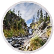 Mystic Falls Round Beach Towel by Shirley Mitchell