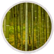 Mystical Bamboo Round Beach Towel