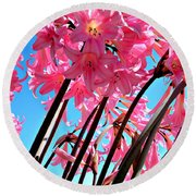 Naked Ladies Round Beach Towel