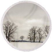 Naked Treeline Round Beach Towel