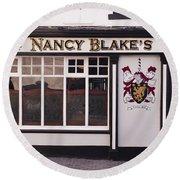 Nancy Blake's Irish Pub Round Beach Towel