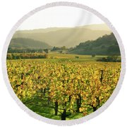 Napa Valley In Autumn Round Beach Towel
