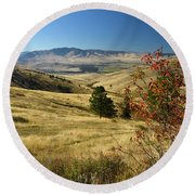 National Bison Range Round Beach Towel