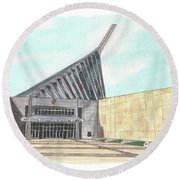 National Museum Of The Marine Corps Round Beach Towel