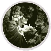 Nativity Round Beach Towel