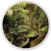 Round Beach Towel featuring the photograph Natural Bridge  by Raymond Earley