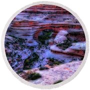 Natural Bridges National Monument Round Beach Towel
