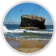 Natural Bridges State Park Round Beach Towel
