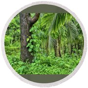 Round Beach Towel featuring the photograph Nature 7 by Charuhas Images