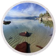 Round Beach Towel featuring the photograph Nature Speaks by Sean Sarsfield