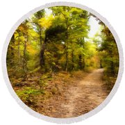 Nature Trail Round Beach Towel by Ricky Dean