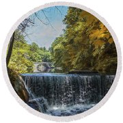 Round Beach Towel featuring the photograph Nature's Beauty by John Rivera
