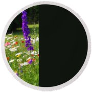 Ncdot Planting Round Beach Towel by Kathryn Meyer