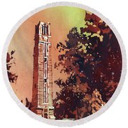Ncsu Bell-tower Round Beach Towel