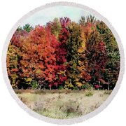 Round Beach Towel featuring the photograph New Hampshire's True Colors by Joseph Hendrix