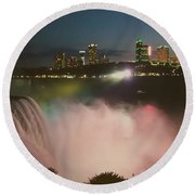 Round Beach Towel featuring the photograph Niagara  by Raymond Earley
