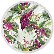 Nicaragua Round Beach Towel by Jacqueline Colley