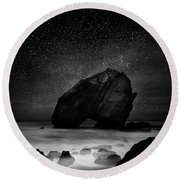 Round Beach Towel featuring the photograph Night Guardian by Jorge Maia